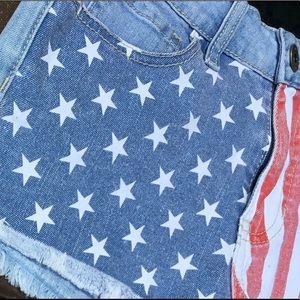 Bullhead Stars & Stripes High Rise Short Shorts